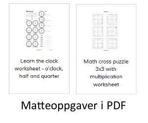 Fri PDF matteoppgaver på norsk